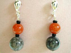 mudline and carnelian gemstone earrings