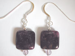 purple sugilite earrings
