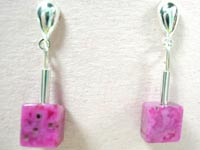 rose crazy lace earrings