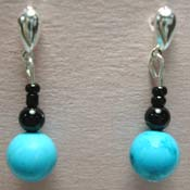 blue chalk turquoise earrings
