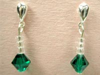 Swarovski emerald earrings