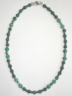 malachite and chrysocolla necklace