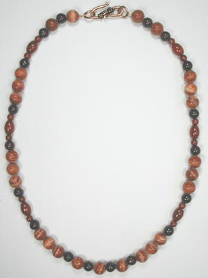 red malachite necklace