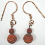 red malachite earrings