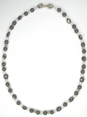 dark jade and garnet necklace