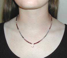 spinel necklace with pendant