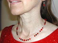red Swarovski necklace