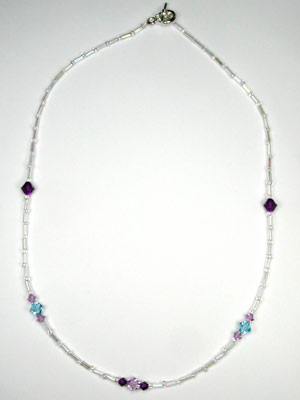 Swarovski purple and aqua necklace