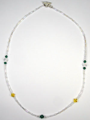 Swarivski green and yellow necklace