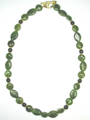 green genuine jade necklace