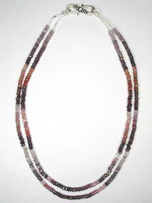 2 trand spinel necklace