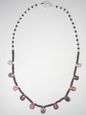 tourmaline and garnet necklace