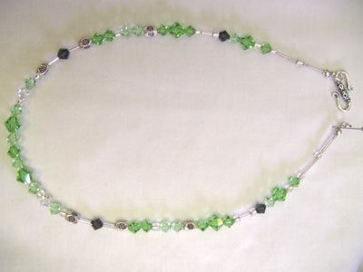 Swarovski Peridot Crystal Necklace