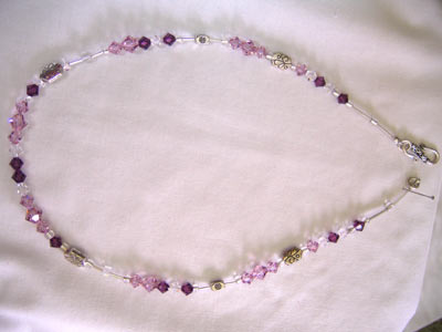 Swarovski Light Amethyst Necklace
