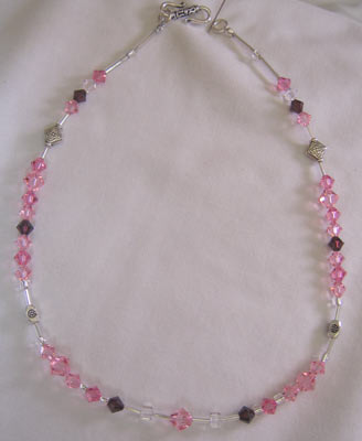 Light Rose Swarovski Necklace